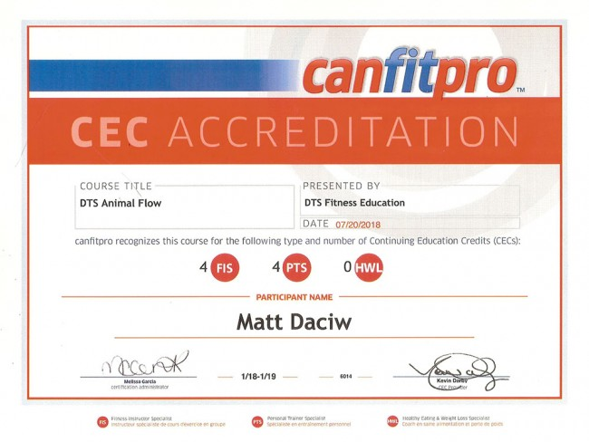 DTS Animal Flow Certification